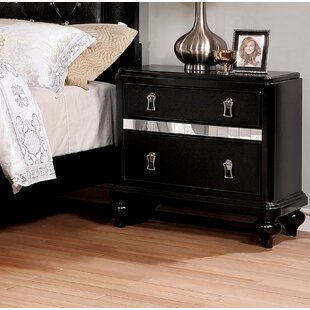 Reviews Edel 2 Drawer Nightstand by House of Hampton