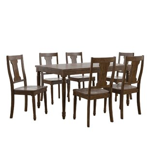 Butte Reclaimed Wood 7 Piece Dining Set b..