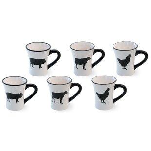 Warriner Farm Fresh 6 Piece Coffee Mug Set (Set of 6)