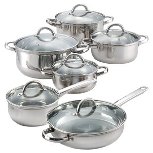 12 Piece Stainless Steel Cookware Set By Cook N Home