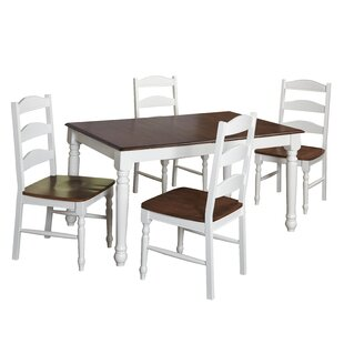 Fleurance 5 Piece Dining Set August Grove