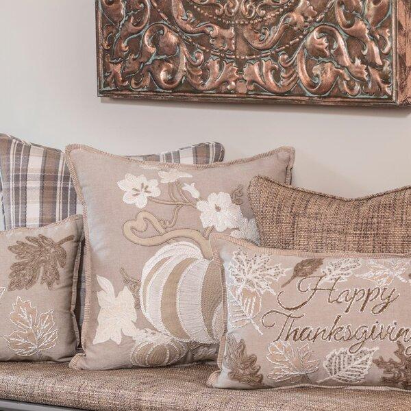 August Grove Dawnview Harvest Pumpkins Cotton Throw Pillow Wayfair