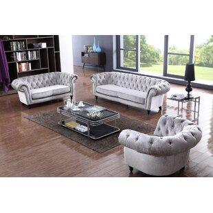 Kaye 3 Piece Living Room Set by Rosdorf Park