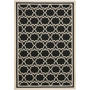 Herefordshire Black & Beige Indoor/Outdoor Area Rug