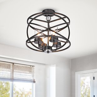 Miner 4-Light Semi Flush Mount by Gracie Oaks