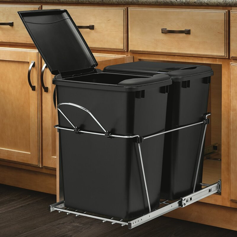 Rev A Shelf Double Roll 8 75 Gallon Pull Out Trash Can