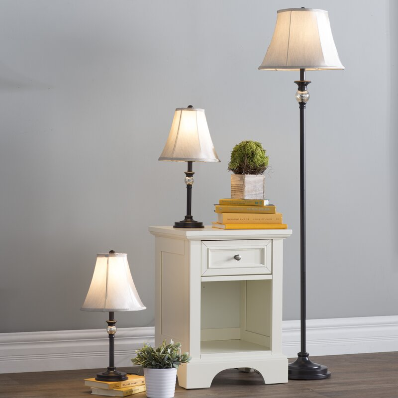 Three Posts Gallipolis 3 Piece Table and Floor Lamp Set & Reviews ...
