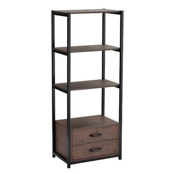 17 Stories Purcellville 59 8 H X 23 6 Metal Standard Bookcase Wayfair
