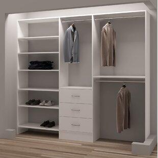 Comparison Demure Design 87W Closet System ByTidySquares Inc.