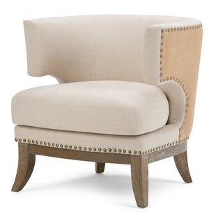 Hoffman Linen Barrel Chair by Simpli Home