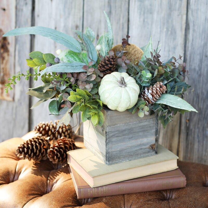Mixed Floral Arrangement In Planter Joss Main