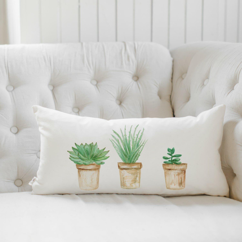 Pcb Home Succulent Pots Cotton Lumbar Pillow Cover Wayfair