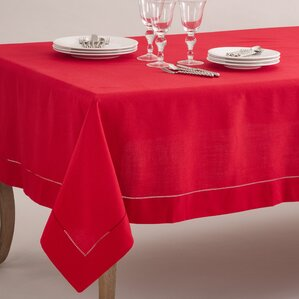 Bellevue Tablecloth. Bellevue Tablecloth. Red