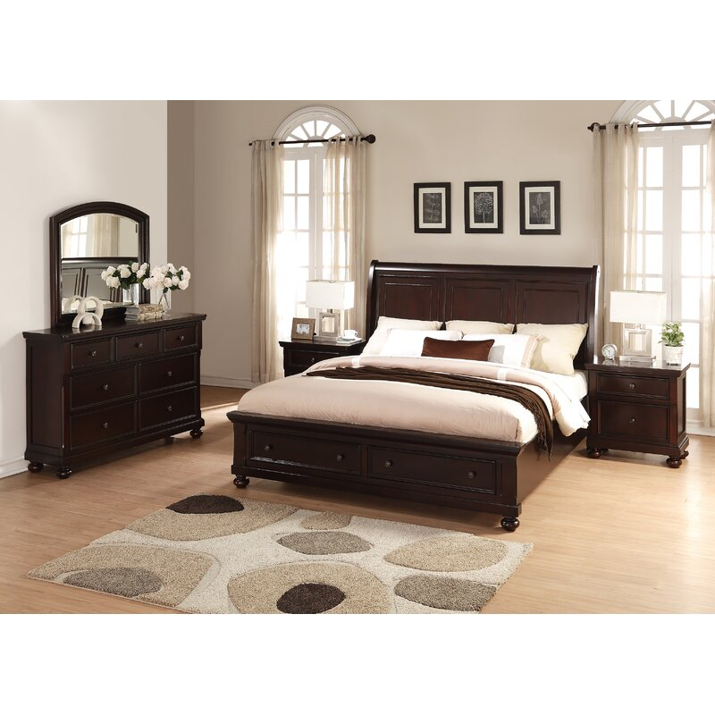 Genial Jaimes Queen Platform 5 Piece Bedroom Set