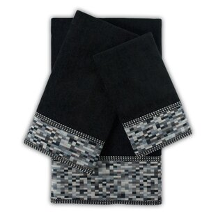 Oreville 3 Piece Embellished Towel Set