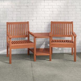 Mayela Wooden Love Seat By Zipcode Design