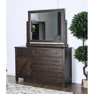 Mcmillon 5 Drawer Combo Dresser with Mirror