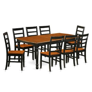 Pimentel 9 Piece Solid Wood Dining Set by August Grove New