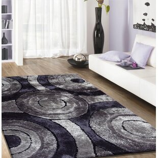 Comparison Living Shag Hand-Tufted Black Area Rug By Rug Factory Plus