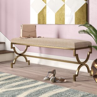 Zara Metal/Upholstered Bench by Willa Arlo Interiors