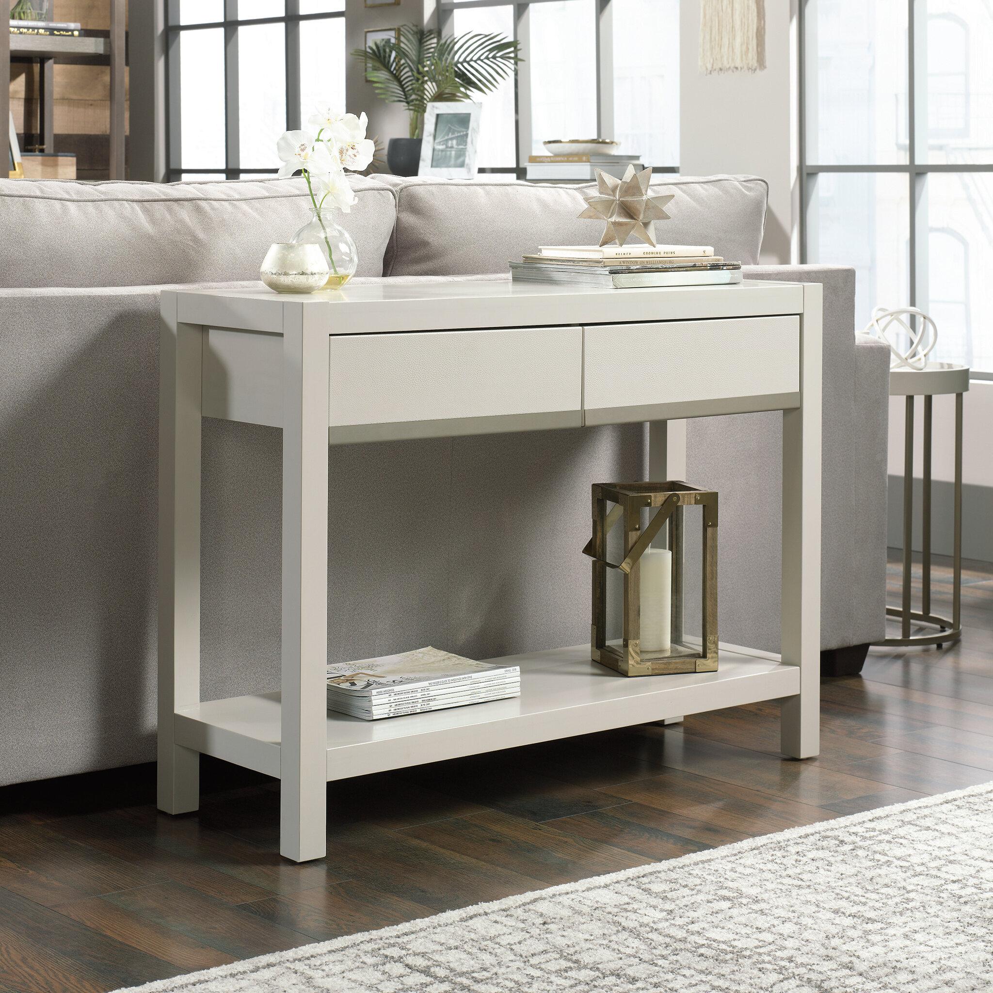 Ebern Designs Wolfforth 40 Solid Wood Console Table Wayfair