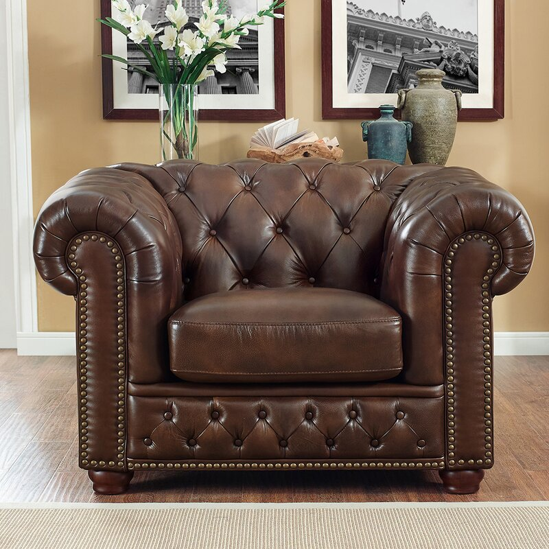 Worcester Leather Chesterfield Chair