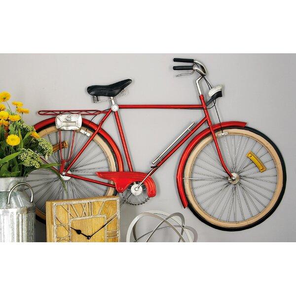 cole grey metal bicycle wall d cor reviews wayfair