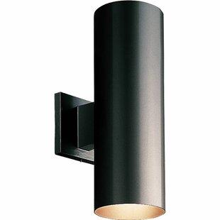 Brayden Studio Everts Cylinder 2-Light Outdoor Sconce