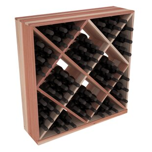 Red Barrel Studio Karnes Redwood Diamond Cube 82 Bottle Floor Wine Rack