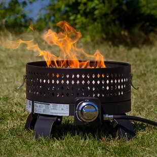 Fire Sense Portable Steel Propane Fire Pit