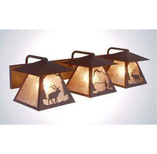 Steel Partners Elk Twin Prairie 3-Light Vanity Light