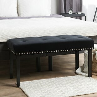 Trimm Upholstered Bench by House of Hampton