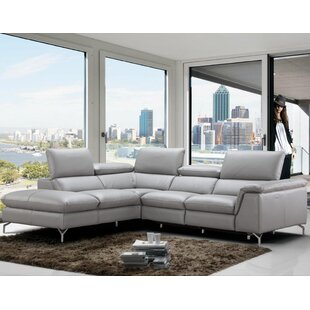 Shop Dupont Leather Reclining Sectional by Wade Logan