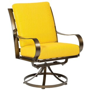 Cascade Swivel Patio Dining Chair with Cushion