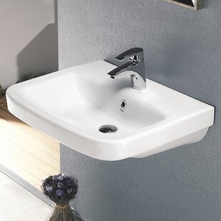 Affordable Price Noura Ceramic Rectangular Drop-In Bathroom Sink with Overflow By CeraStyle by Nameeks