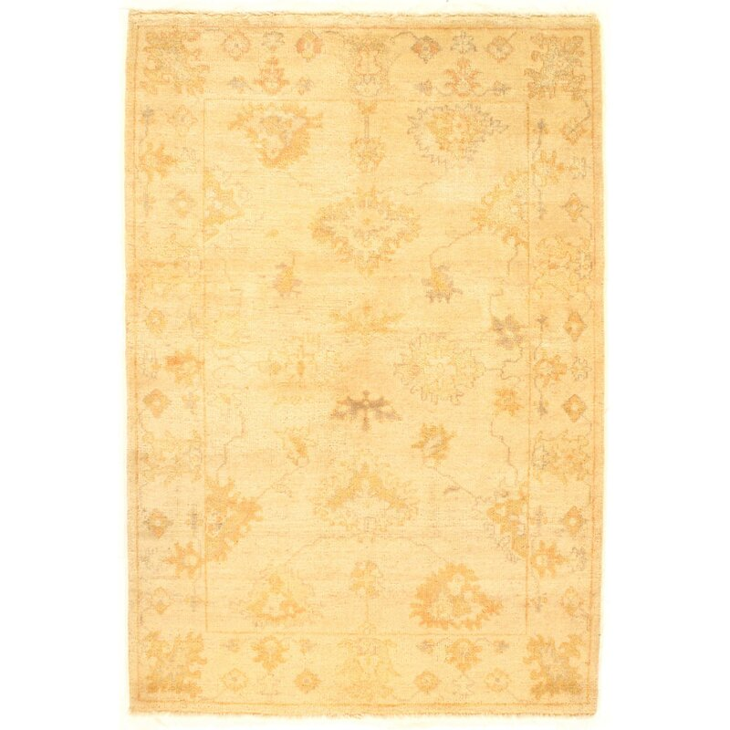 Bungalow Rose Colella Hand Knotted Wool Ivory Area Rug Wayfair Ca