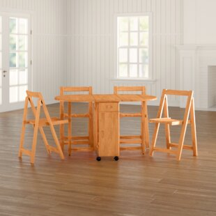 Cardenas Butterfly Extendable Dining Set With 4 Chairs By Brambly Cottage