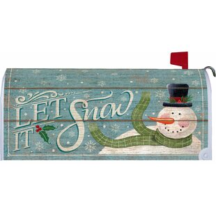 Let It Snowman Mailbox Cover By Custom Decor