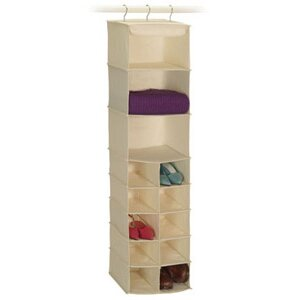 Richards Homewares Natural Canvas Storage 3 and 10 Shelf Sweater / Shoe Organizer