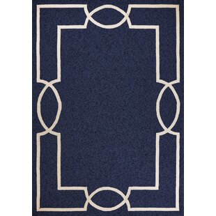 Hamptons Madison Hand-Hooked Ocean Indoor/Outdoor Area Rug
