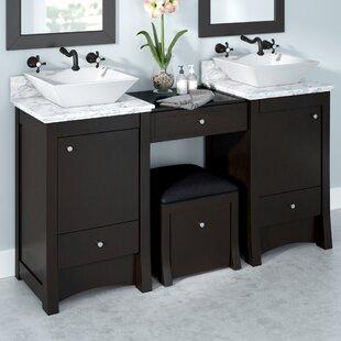 Kimbrell Transitional Wall Mount 61 Double Bathroom Vanity Set