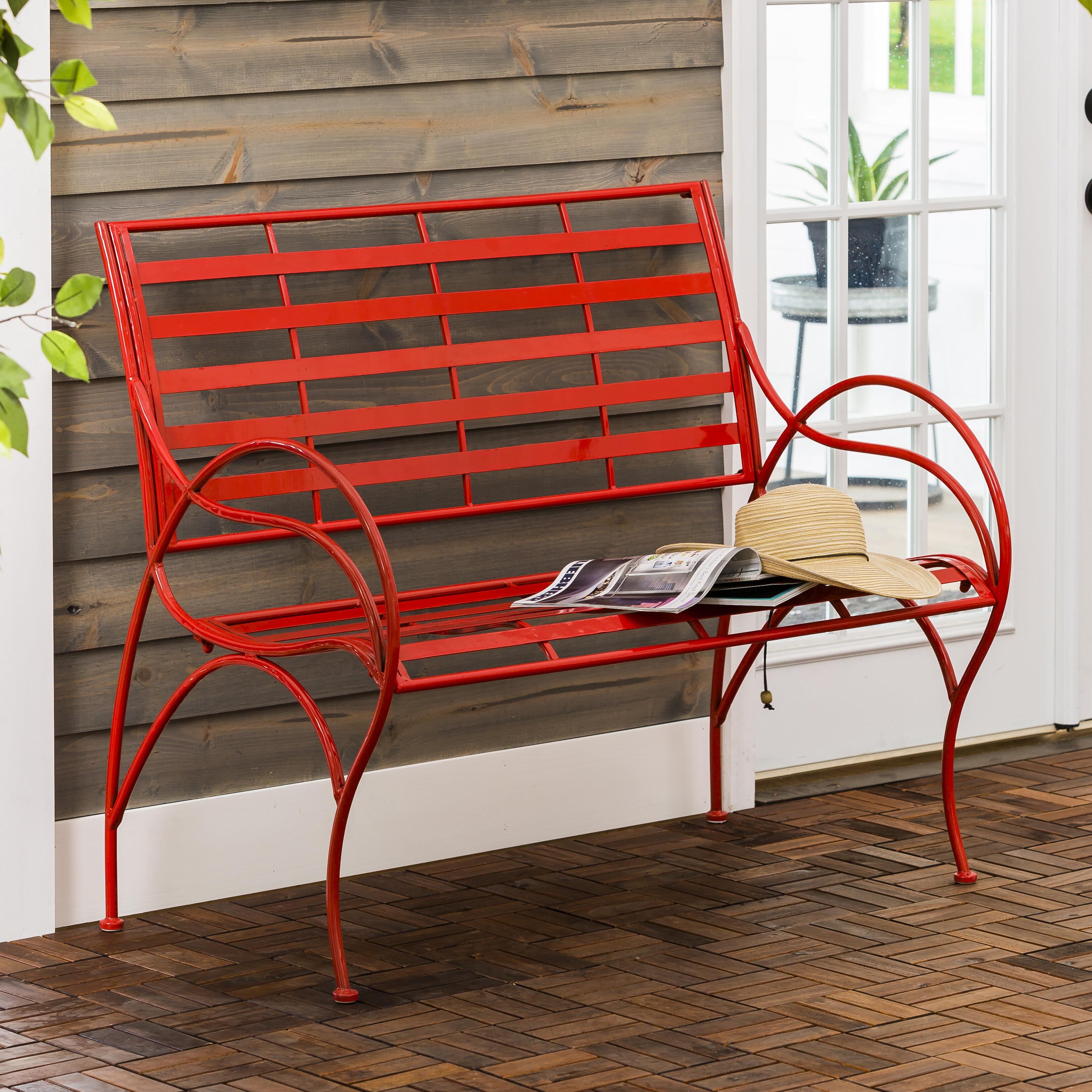Delicieux Carnegie Swirl Iron Garden Bench