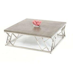 17 Stories Kyler Modern Concrete Coffee Table
