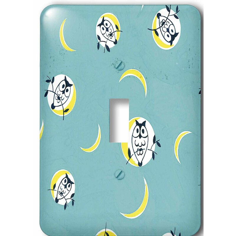 3drose Owl And The Moon 1 Gang Toggle Light Switch Wall Plate Wayfair