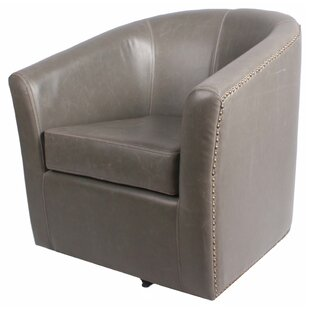 Rabinowitz Swivel Barrel Chair by Winston Porter