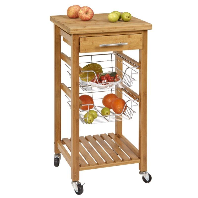 Lemasters Bamboo Kitchen Cart