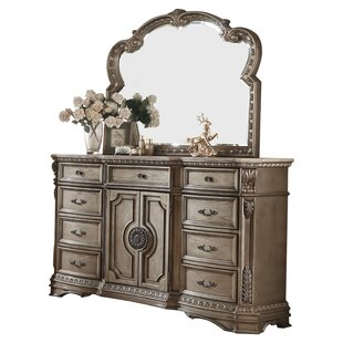 Leanos 9 Drawer Combo Dresser with Mirror