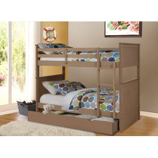 Battista Twin over Twin Bunk Bed with Trundle Drawer