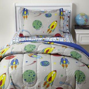 Kole Space Rocket 5 Piece Comforter Set