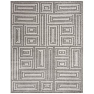 Drexler Gray/White Indoor/Outdoor Area Rug